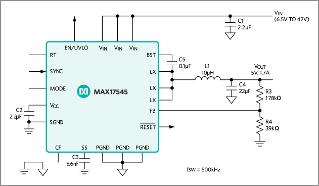 MAX17545: Typical Operating Circuit