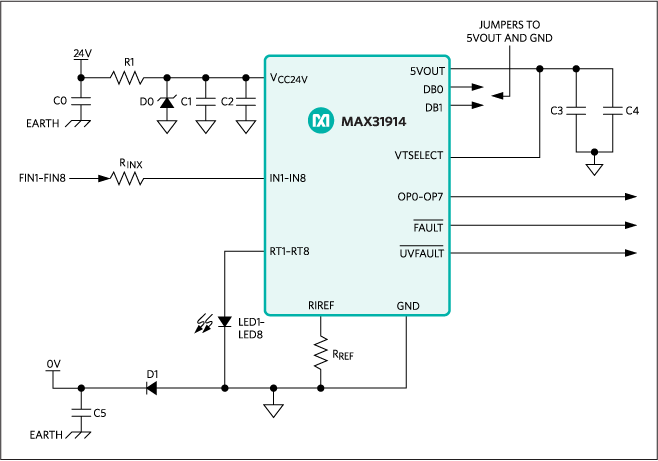 MAX31914: Typical Application Circuit
