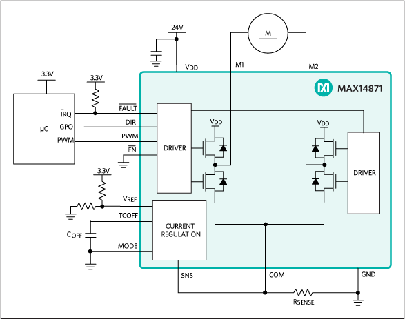 MAX14871: Typical Operating Circuit