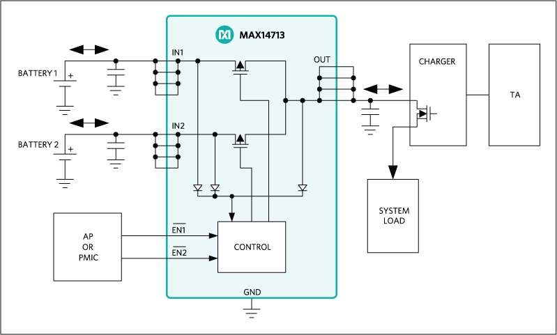 MAX14713: Typical Operating Circuit