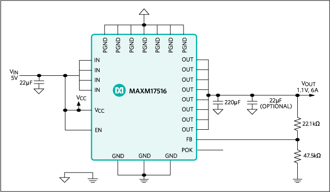 MAXM17516: Typical Application Circuit