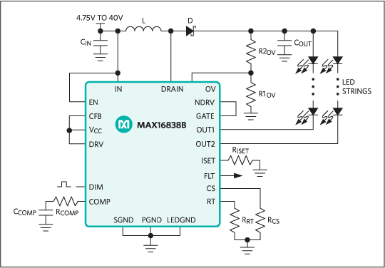 MAX16838B:System Block Diagram