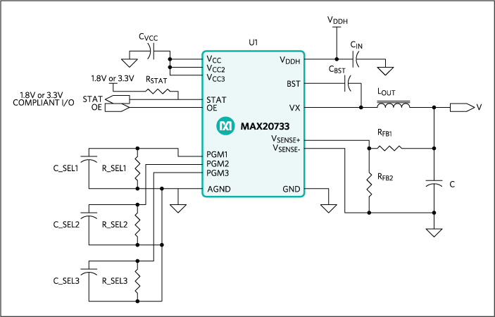 MAX20733: Typical Application Circuit