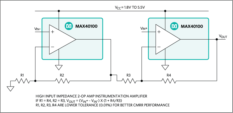 MAX40100: Typical Application Circuit