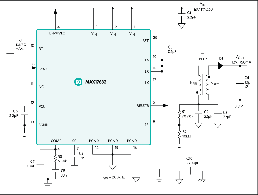 MAX17682: Typical Application Circuit