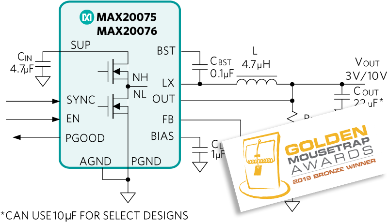 MAX20075, MAX20076: Typical Operating Circuit