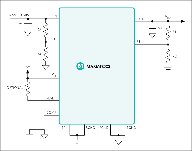 MAXM17502: Typical Application Circuit
