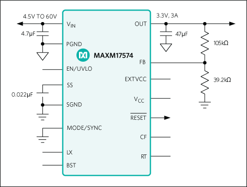MAXM17574: Typical Application Circuit