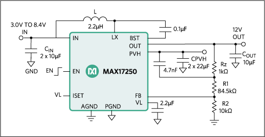 MAX17250: Typical Application Circuit