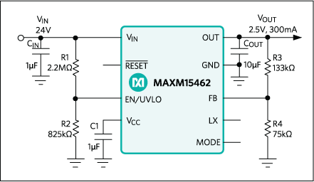 MAXM15462: Typical Application Circuit