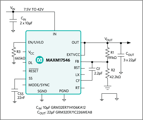 MAXM17546: Typical Application Circuit
