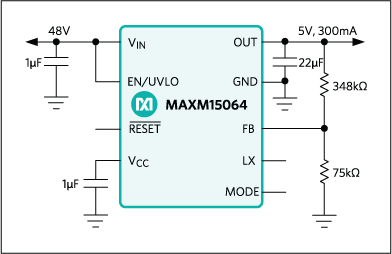 MAXM15064: Typical Application Circuit