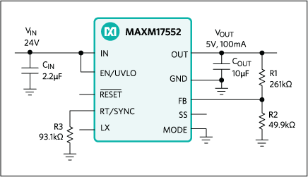 MAXM17552: Typical Application Circuit