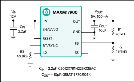 MAXM17900: Typical Application Circuit