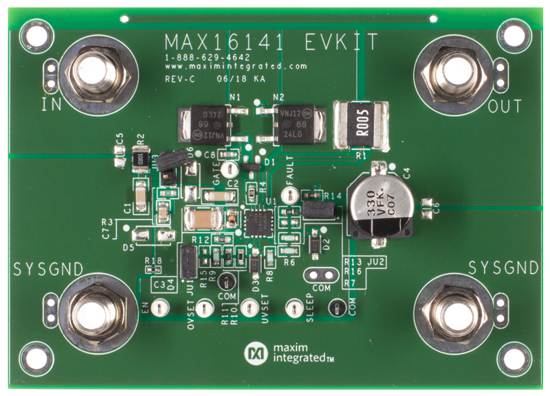 MAX16141EVKIT: Board Photo