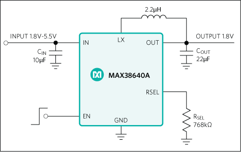 MAX38640, MAX38641, MAX38642, MAX38643: Typical Operating Circuit