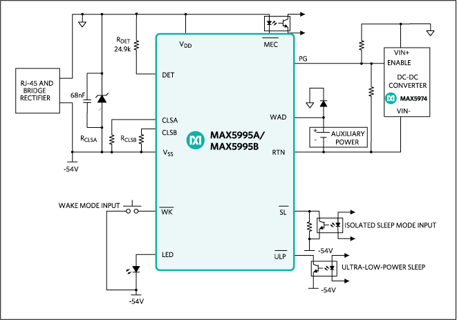 MAX5995A, MAX5995B, MAX5995C: Simplified Block Diagram